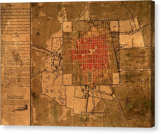 Mexico Map 1794.Mexico City Map Canvas Prints Page 2 Of 4 Fine Art America