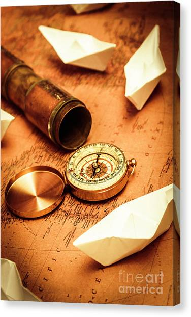 Tools Canvas Print - Maps And Bearings by Jorgo Photography - Wall Art Gallery