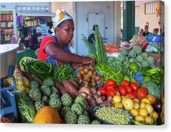 Maputo Market Canvas Print
