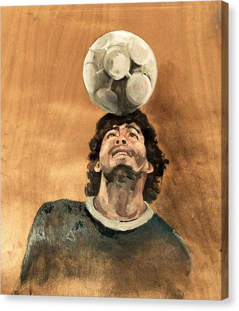 Diego Maradona Canvas Print - Maradona by Mounir Meghaoui