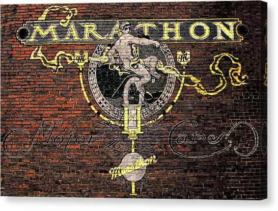 Marathon Motor Cars Canvas Print by Joseph Sassone
