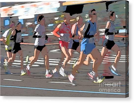 Marathon Runners II Canvas Print