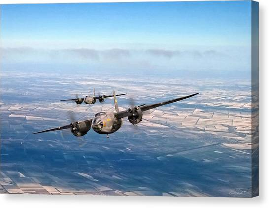 United States Army Air Corps Canvas Print - Marauder Twoship by Peter Chilelli