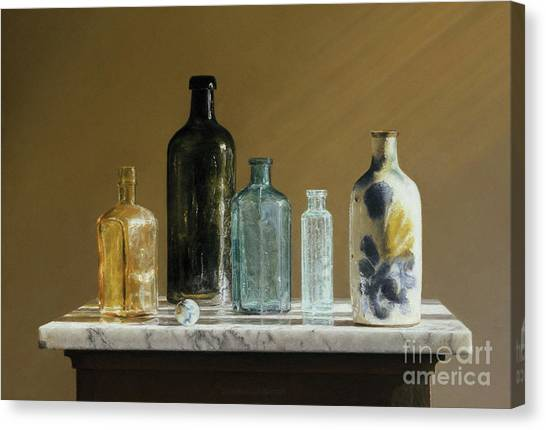 Marble On Marble Canvas Print by Barbara Groff