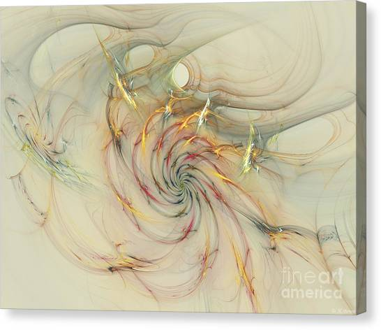 Marble Spiral Colors Canvas Print