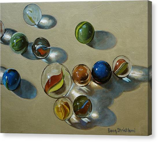 Marbles Canvas Print by Doug Strickland
