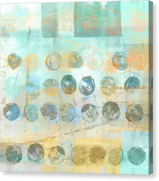 Dots Canvas Print - Marbles Found Number 4 by Carol Leigh