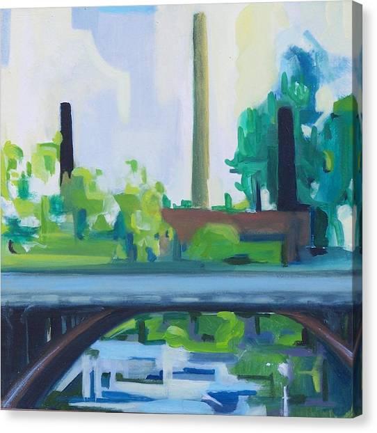 Marcal Rt. 46 Bridge Canvas Print by Ron Erickson