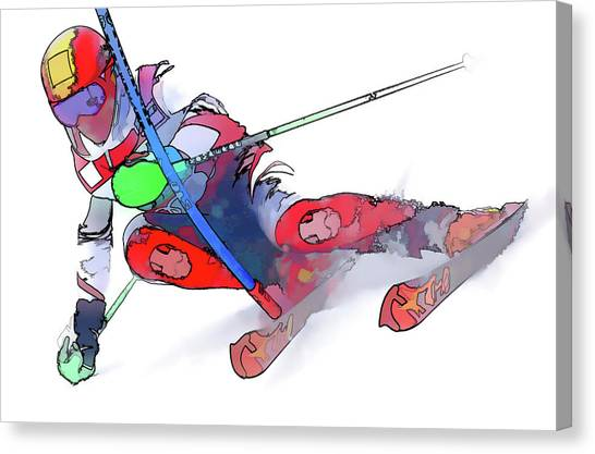 Freeriding Canvas Print - Marcel Hirscher by Lanjee Chee