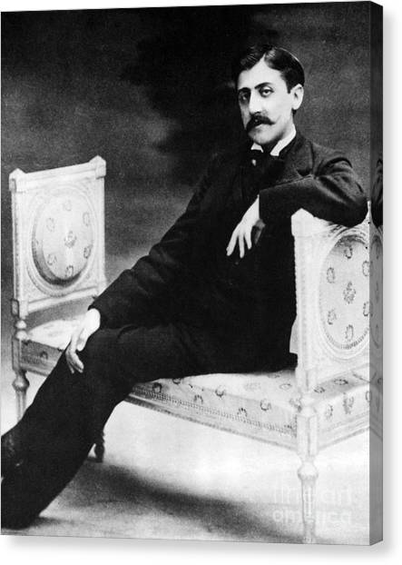 Notable Canvas Print - Marcel Proust, French Author by Omikron