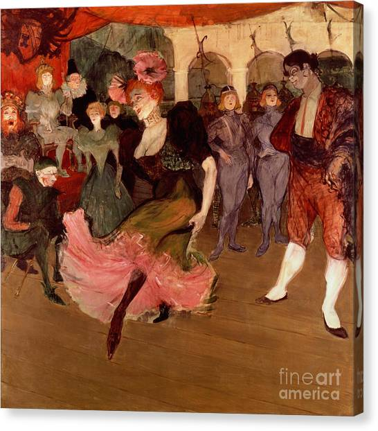 Chest Canvas Print - Marcelle Lender Dancing The Bolero In Chilperic by Henri de Toulouse Lautrec
