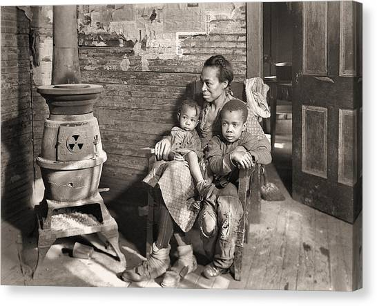 March 1937 Scott's Run, West Virginia Johnson Family. Canvas Print