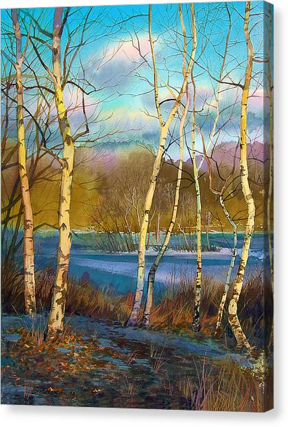 March. Birches Canvas Print