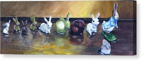 March Hares Canvas Print