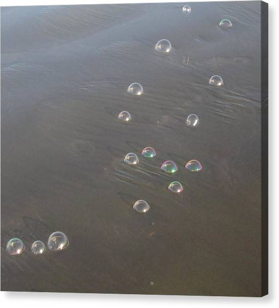 March Of The Bubbles Canvas Print