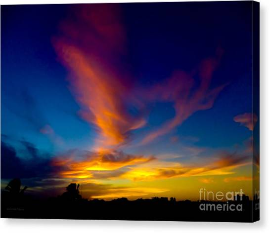 Sunset March 31, 2018 Canvas Print