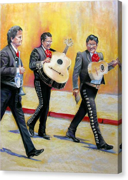 Marching Mariachi Canvas Print by Carole Haslock
