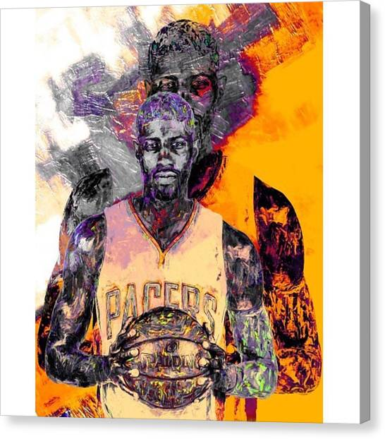Indiana Pacers Canvas Print - #marchmadness #instagood #indianapacers by David Haskett II