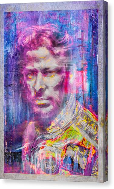 Daytona 500 Canvas Print - Marco Andretti Digitally Painted Portrait by David Haskett