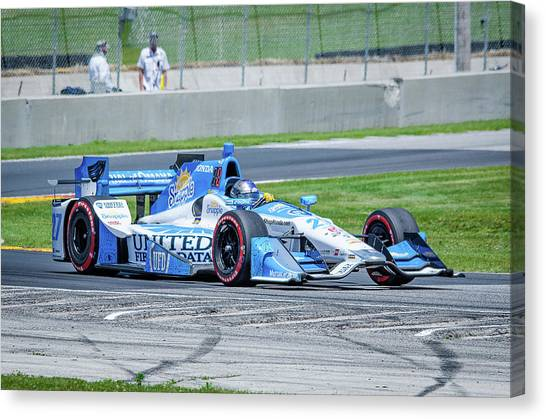 Marco Andretti Canvas Print - Marco Andretti by Steven Banker