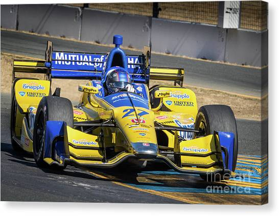 Marco Andretti Canvas Print - Marco Andretti by Webb Canepa