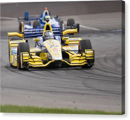 Marco Andretti Canvas Print - Marco by David Lambert