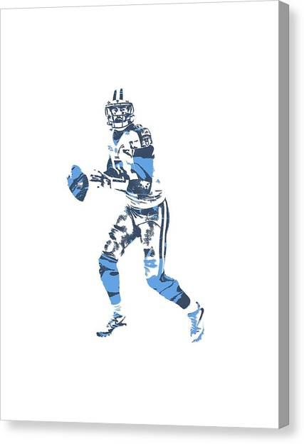 Tennessee Titans Canvas Print - Marcus Mariota Tennessee Titans Pixel Art T Shirt 1 by Joe Hamilton