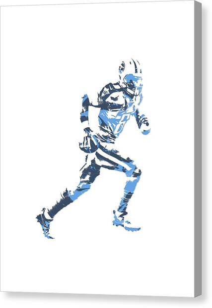 Tennessee Titans Canvas Print - Marcus Mariota Tennessee Titans Pixel Art T Shirt 2 by Joe Hamilton