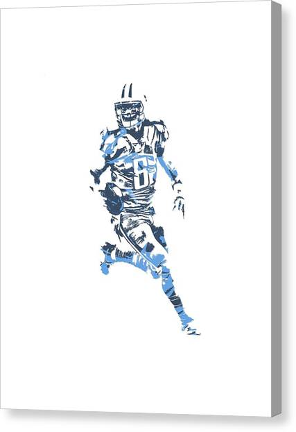 Tennessee Titans Canvas Print - Marcus Mariota Tennessee Titans Pixel Art T Shirt 3 by Joe Hamilton