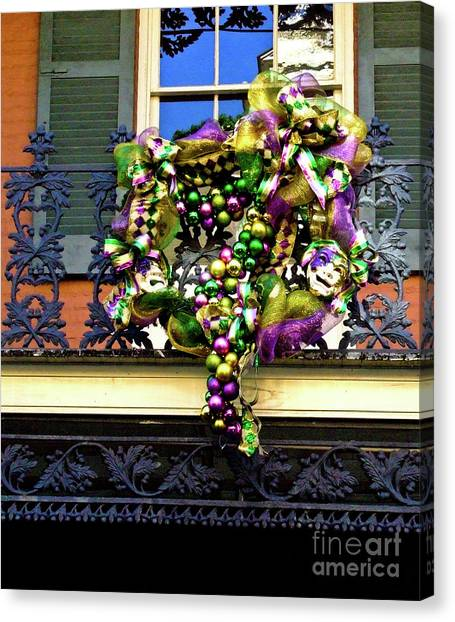 Mardi Gras Decor 1 Canvas Print