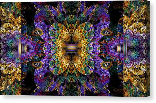 Apophysis Canvas Print - Mardi Gras Split Crop by Peggi Wolfe