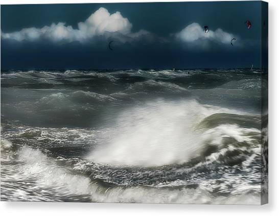 Canvas Print featuring the photograph Mareggiata A Ponente - Eastern Seastorm by Enrico Pelos