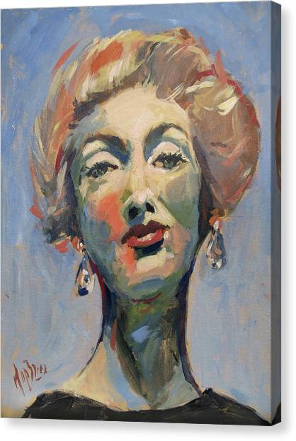 Briex Canvas Print - Marella Agnelli by Nop Briex