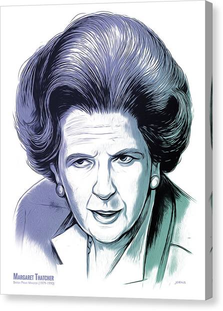 20th Canvas Print - Margaret Thatcher by Greg Joens