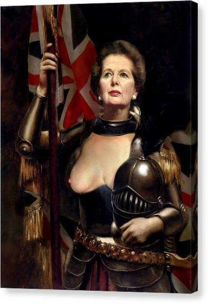 Margaret Thatcher Nude Canvas Print