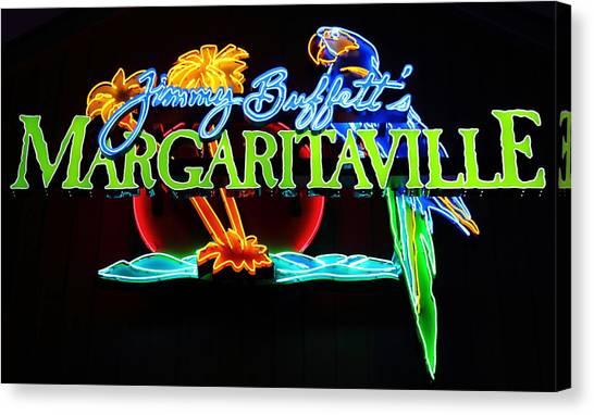 Margaritaville Neon Canvas Print