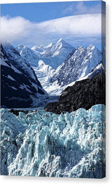 Margerie Glacier Canvas Print - Margerie Glacier And Ice Field by Jo Ann Gregg