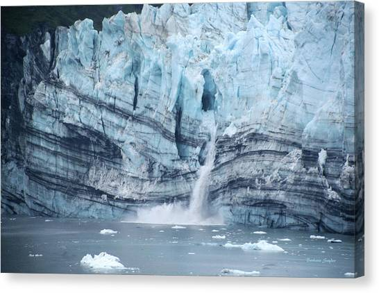 Margerie Glacier Canvas Print - Margerie Glacier Glacier Bay 2 by Barbara Snyder