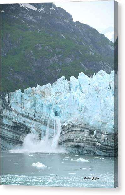 Margerie Glacier Canvas Print - Margerie Glacier Glacier Bay Alaska by Barbara Snyder