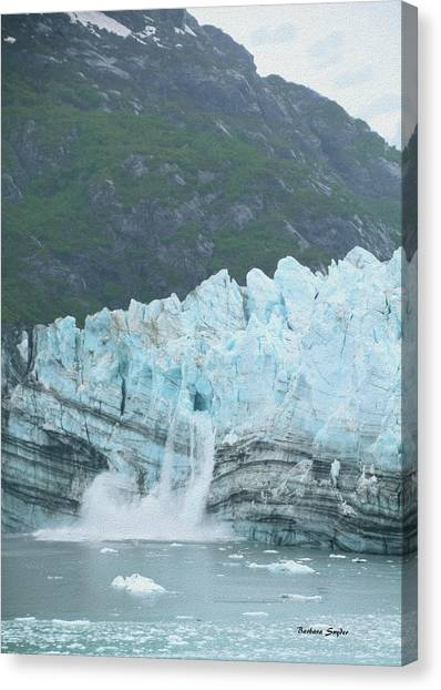 Margerie Glacier Canvas Print - Margerie Glacier Glacier Bay Painting  by Barbara Snyder