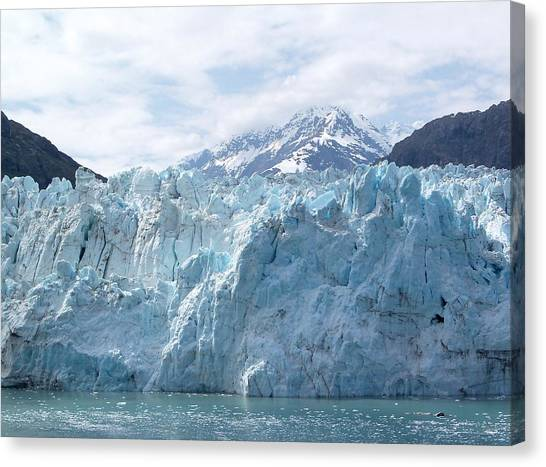 Margerie Glacier Canvas Print - Margerie Glacier Meets The Bay by Katie Beougher