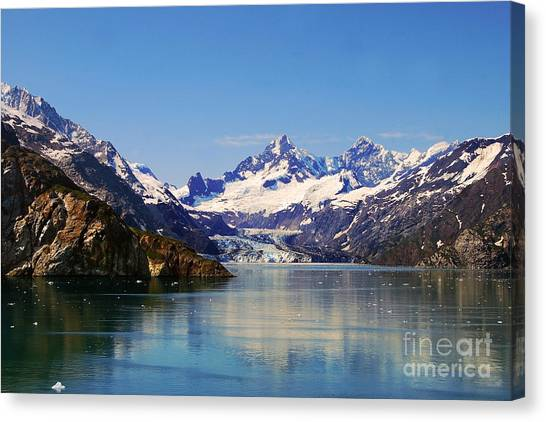 Margerie Glacier Canvas Print - Margerie Glacier Panorama by Catherine Sherman