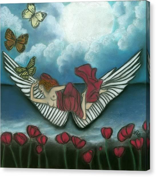 Mari Goddess Of Dreams Canvas Print by Natalie Roberts