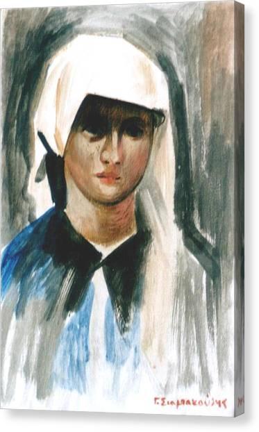 Maria Canvas Print by George Siaba