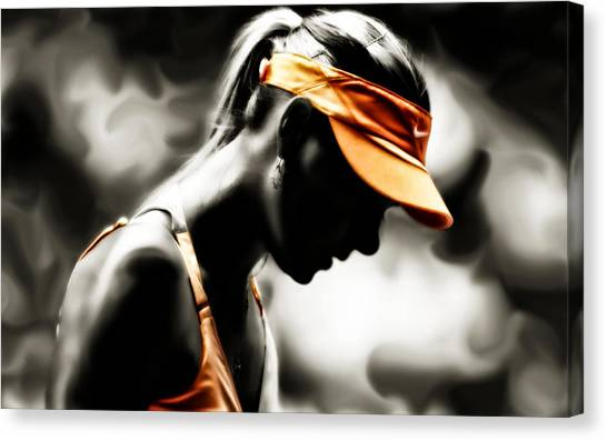 Maria Sharapova Canvas Print - Maria Sharapova Deep Focus by Brian Reaves