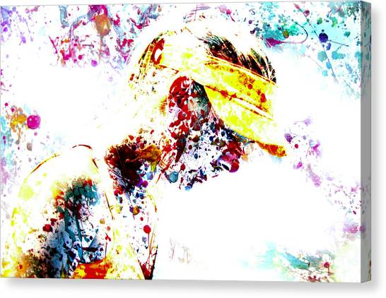 Maria Sharapova Canvas Print - Maria Sharapova Paint Splatter 4p                 by Brian Reaves