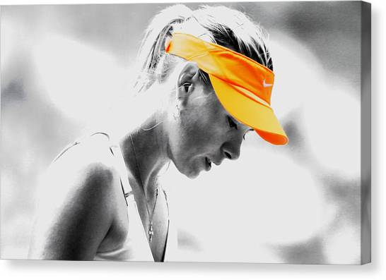 Maria Sharapova Canvas Print - Maria Sharapova Stay Focused by Brian Reaves