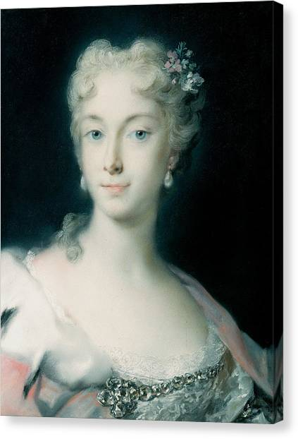 Rococo Art Canvas Print - Maria Theresa, Archduchess Of Habsburg by Rosalba Carriera