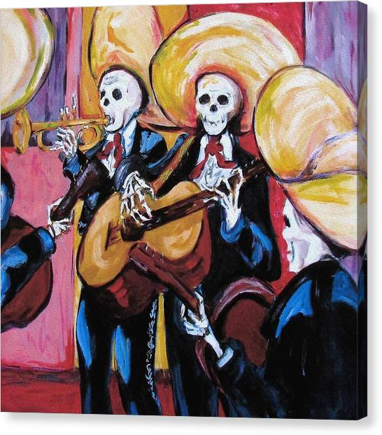 Mexican Canvas Print - Mariachi IIi by Sharon Sieben