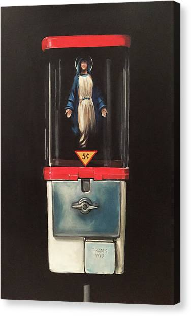 Apparition Canvas Print - Marian Apparitions- 5 Cents by Jeffrey Bess